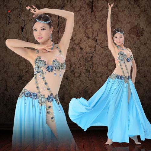 プロフェッショナル Performance ベリーダンス 衣装 Luxury Mesh one-piece ドレス M/L コスチューム ダンス 衣装 発表会