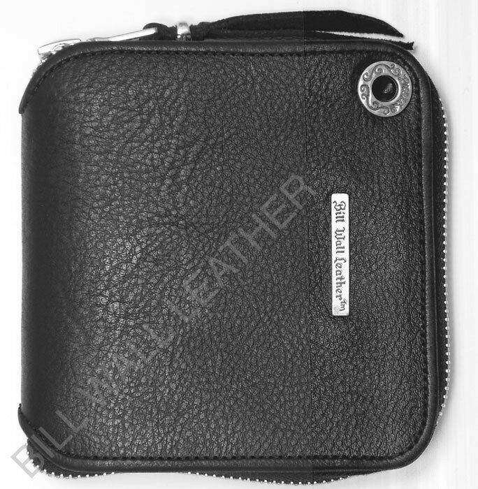 ビルウォールレザー BWL Bill Wall Leather W958 スクウェア ブラックレザー ジッパーウォレット 財布 シルバー カスタム ハンドクラフト 革