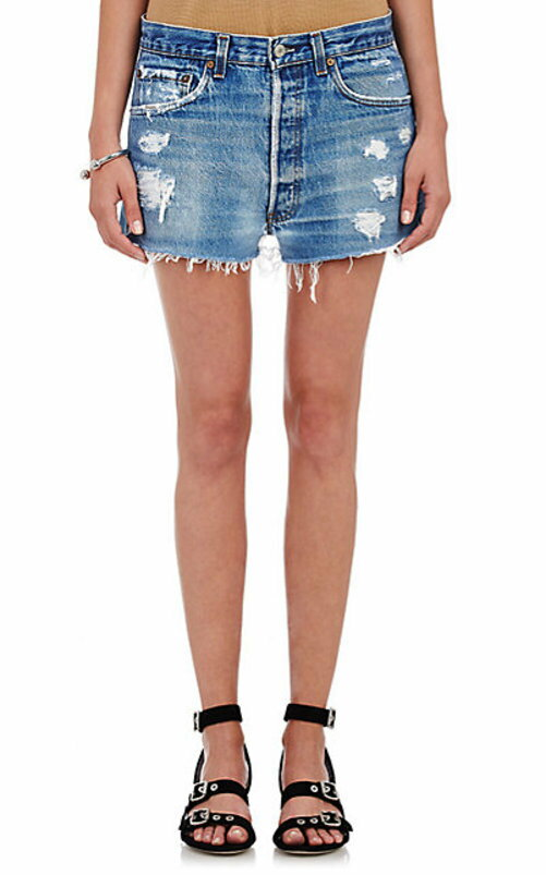 RE/DONE Distressed Cut-Off Shorts