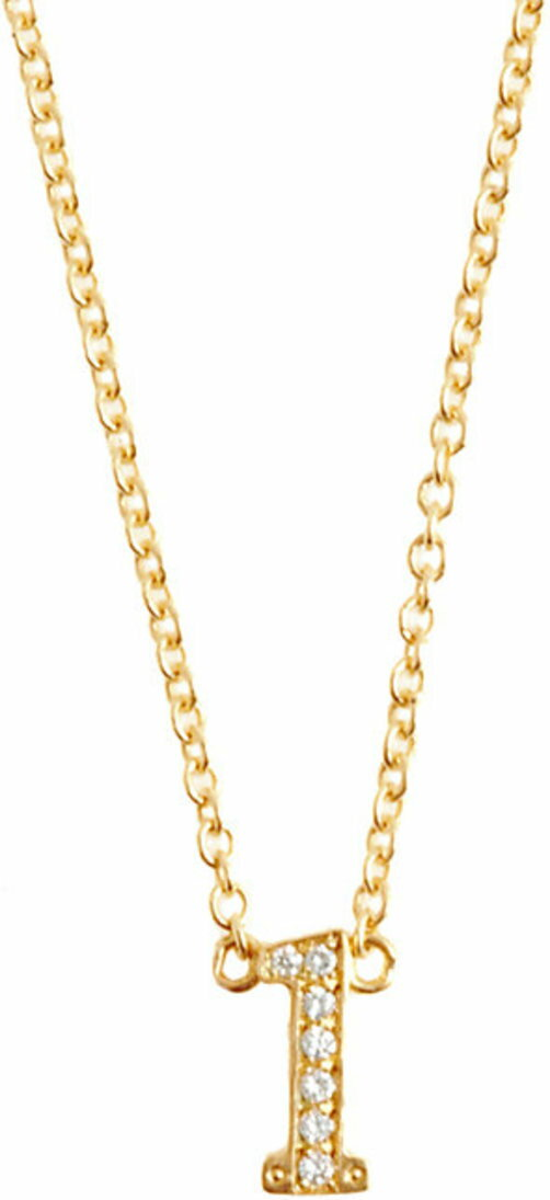 Jennifer Meyer Initial Pendant Necklace