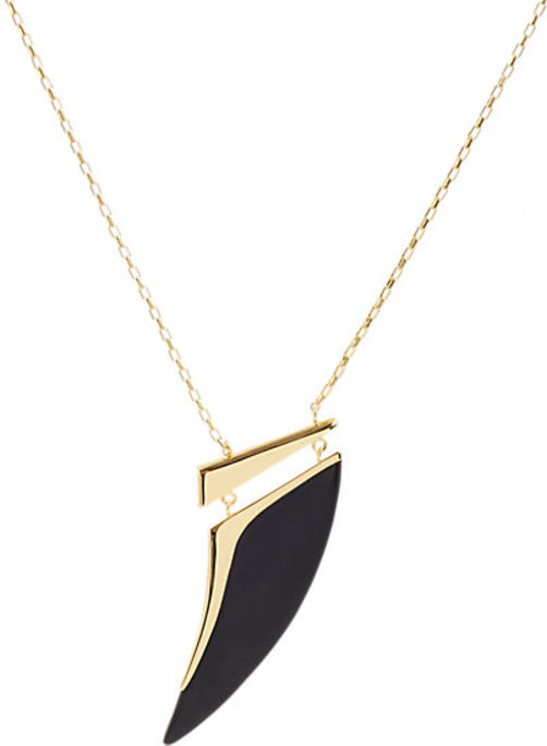 Maiyet Natural Black Horn Oversize Pendant Necklace