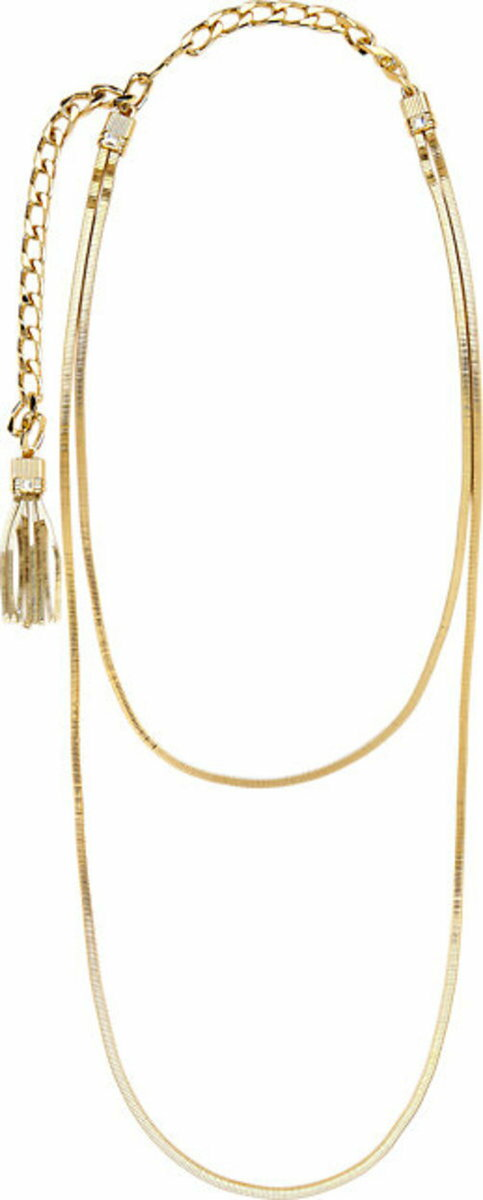 Lanvin Art Deco Double-Strand Long Necklace