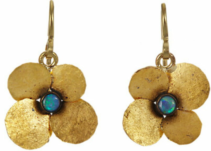 Judy Geib Opal Hydrangea Earrings