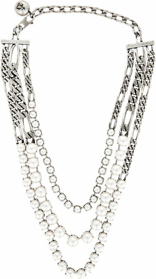Lanvin Kristin Triple-Strand Necklace