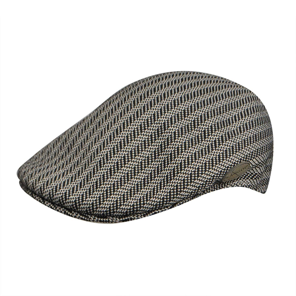 Kangol カンゴール Ardsley Herringbone 504 BLACK Ivy Caps & Flat Caps 帽子 BLACK