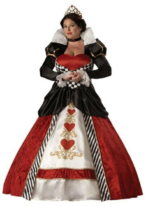 コスプレ ハロウィン クイーン 王女様 お姫様OF HEARTS 大人用 レディス 女性用 衣装 ドレス ワンピース  衣装 学園祭 文化祭 コスチューム  仮装 変装