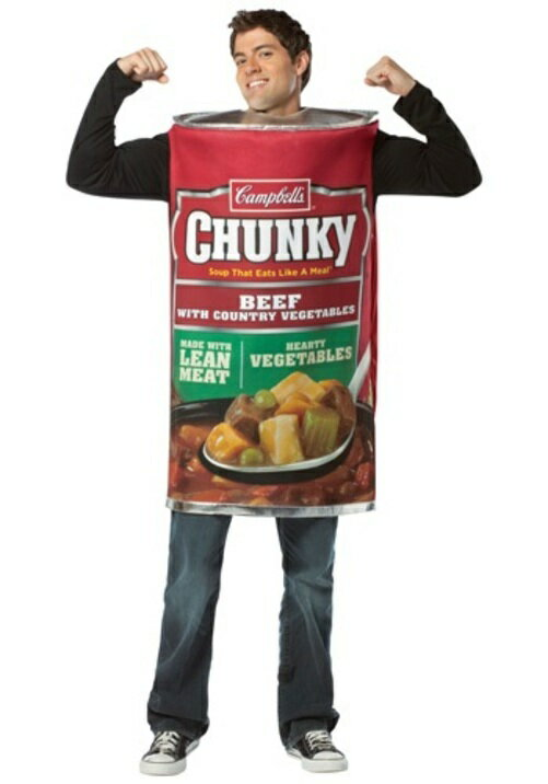 コスプレ ハロウィン CAMPBELLS CHUNK BEEF SOUP 大人用 メンズ 男性用 衣装  衣装 学園祭 文化祭 コスチューム  仮装 変装
