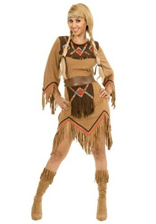 コスプレ ハロウィン SACAJAWEA INDIAN MAIDEN 大人用 レディス 女性用 衣装 ドレス ワンピース  衣装 学園祭 文化祭 コスチューム  仮装 変装