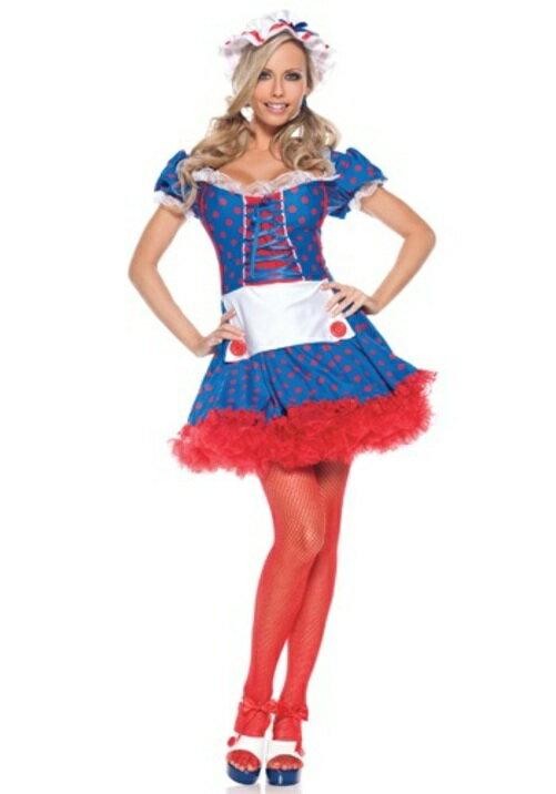 コスプレ ハロウィン MISBEHAVIN RAGDOLL 大人用 女性用 衣装 ドレス ワンピース  衣装  学園祭 文化祭 コスチューム  仮装 変装