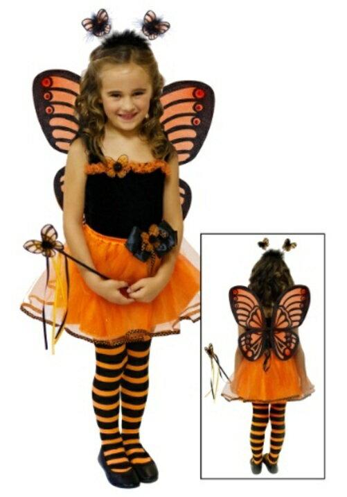 コスプレ ハロウィン MONARCH BUTTERFLY チュチュSET 子供用 女の子 衣装 ドレス ワンピース  衣装 学園祭 文化祭 コスチューム  仮装 変装