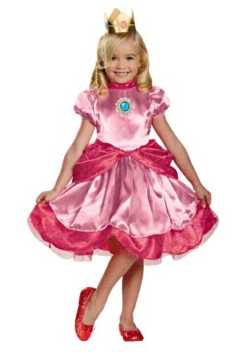 コスプレ ハロウィン プリンセス お姫様 王女様PEACH 子供用 女の子 衣装 ドレス ワンピース  衣装  学園祭 文化祭 コスチューム  仮装 変装