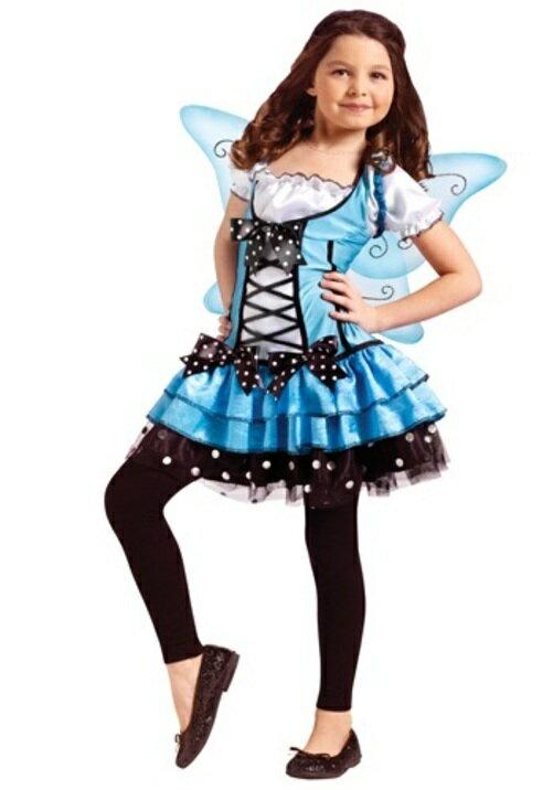 コスプレ ハロウィン BLUEベル妖精 フェアリー 子供用 女の子 衣装 ドレス ワンピース  衣装 学園祭 文化祭 コスチューム  仮装 変装