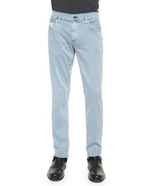 Blake Slim-Straight Jeans, Light Blue