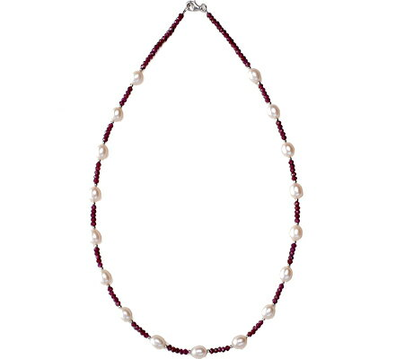 Eco Opulence Garnets Galore Necklace - Red White スカーフ