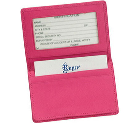 ロイス レザー Royce Leather Deluxe Card Holder 405-5 - Wildberry アクセサリー