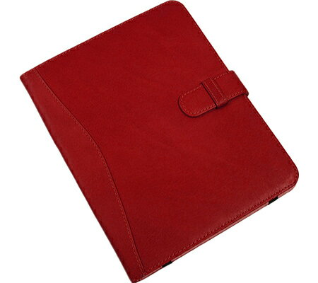 ピエルレザー Piel Leather iPad Case with Tab Closure 2946 - Red Leather アクセサリー
