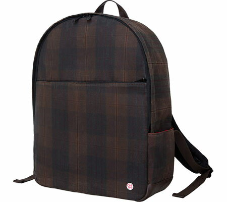 Token University Waxed Backpack - Dark Brown Plaid バッグ 鞄 かばん バックパック リュックサック