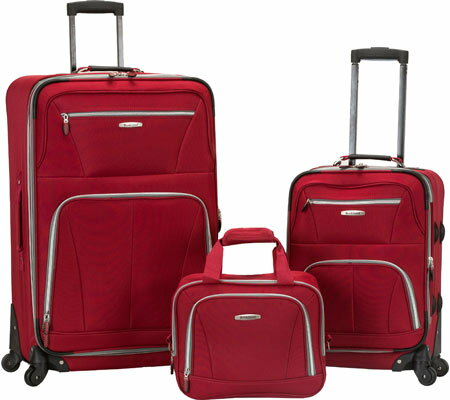 Rockland 3 Piece Pasadena Expandable Spinner Set F228 - Red バッグ 鞄 かばん