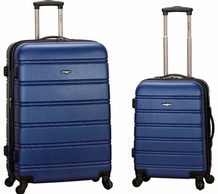 Rockland 2 Piece Expandable ABS Spinner Set F225 - Blue バッグ 鞄 かばん