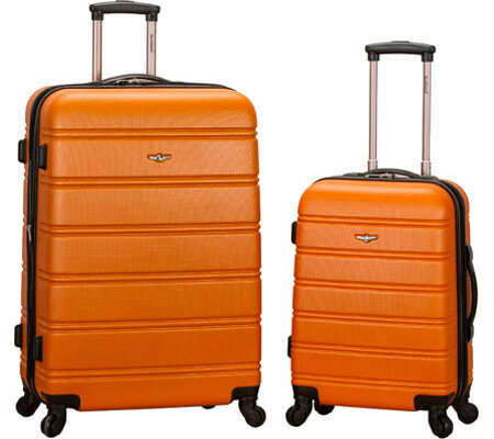 Rockland 2 Piece Expandable ABS Spinner Set F225 - Orange バッグ 鞄 かばん