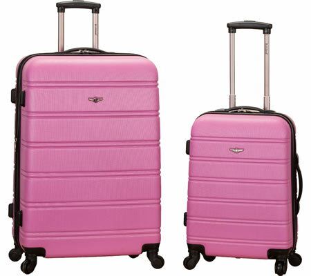 Rockland 2 Piece Expandable ABS Spinner Set F225 - Pink バッグ 鞄 かばん