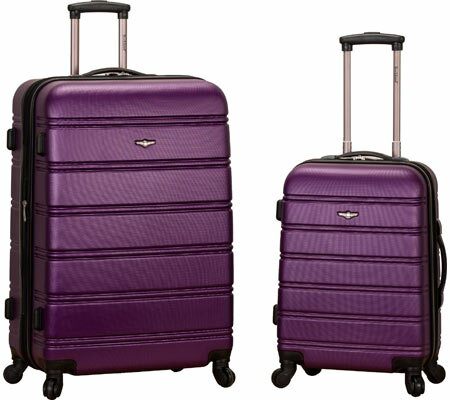 Rockland 2 Piece Expandable ABS Spinner Set F225 - Purple バッグ 鞄 かばん
