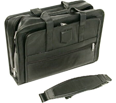 Stebco Executive Leather Computer Case - Black バッグ 鞄 かばん