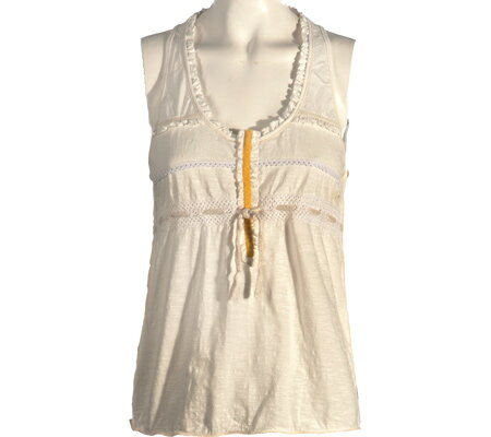 Ojai Clothing Gypsy Racer Back Top - White トップス シャツ