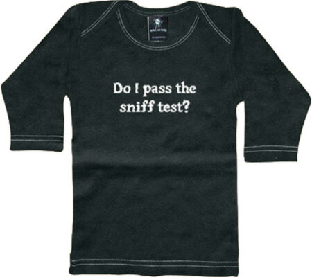 Rebel Ink Baby Do I Pass The Sniff Test Long Sleeve Tee - Black トップス シャツ