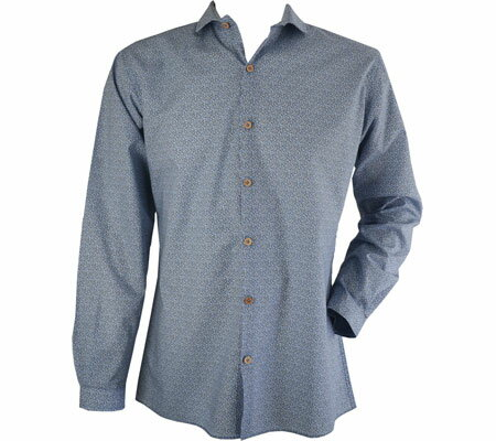 Saryans Arthur Long Sleeve Woven Shirt - Blue Grey トップス シャツ