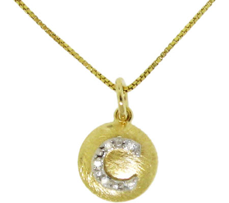 Moise Initial C Pendant Necklace 206103 - 14K Gold-Plated スカーフ