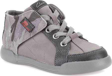 クラークス Clarks Kintor Boy Toddler - Grey Combination Leather 子供 キッズ シューズ 靴