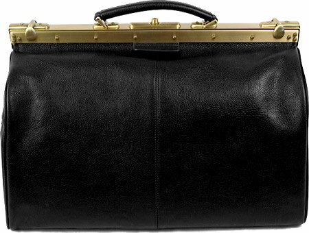 ドクターコッファー Dr. Koffer Nabokov Travel Bag D003 - Black Venetian Leather バッグ 鞄 かばん