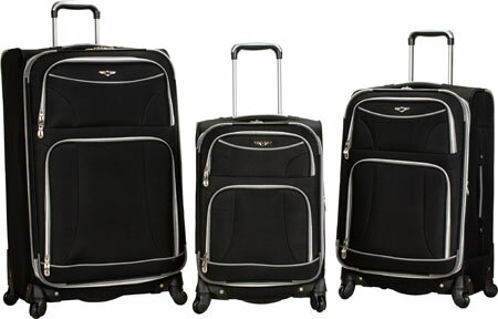 Rockland 3 Piece Expandable Spinner Set F218 - Black バッグ 鞄 かばん