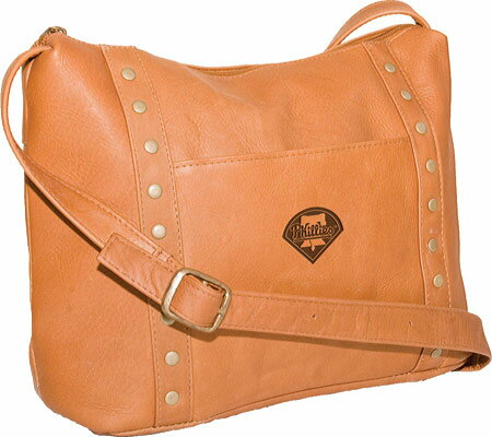 パンゲア Pangea Top Zip Handbag PA 749 MLB - Philadelphia Phillies Tan バッグ 鞄 かばん ハンドバッグ