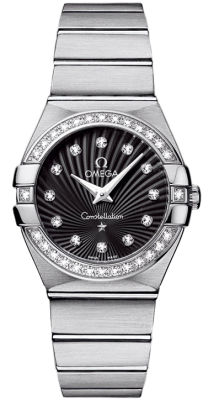 Omega オメガ Constellation Brushed Chronometer 27mm Women's Watch 女性用 レディス 腕時計 123.15.27.60.51.001