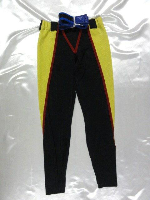 シマスポーツ製 シューティング ロングタイツ 黒/黄 ベルト付