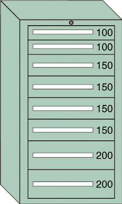 OS 中量キャビネット7型 最大積載量1200kg 引出し2×4×2段【71205】 販売単位:1台(入り数:-)JAN[-](OS キャビネット) 大阪製罐(株)【05P03Dec16】