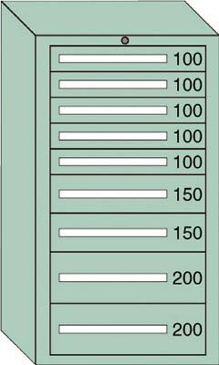 OS 中量キャビネット7型 最大積載量1200kg 引出し5×2×2段【71211】 販売単位:1台(入り数:-)JAN[-](OS キャビネット) 大阪製罐(株)【05P03Dec16】
