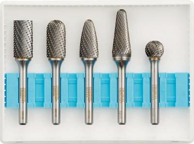 TRUSCO 超硬バーセットCシリーズ 軸6mm 刃径12.7mm 5本セット【TBC1275S】 販売単位:1S(入り数:5本)JAN[4989999239256](TRUSCO 超硬バー) トラスコ中山(株)【05P03Dec16】