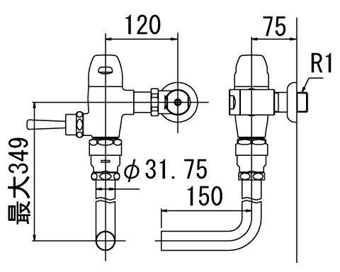 INAX トイレ フラッシュ�ルブ�CF-50UH】 寒冷地用 洗浄水�10-15L便器用 上水用[�期4週間] �CF50UH】 INAX・イナックス・LIXIL・リクシル[新�]�RCP】