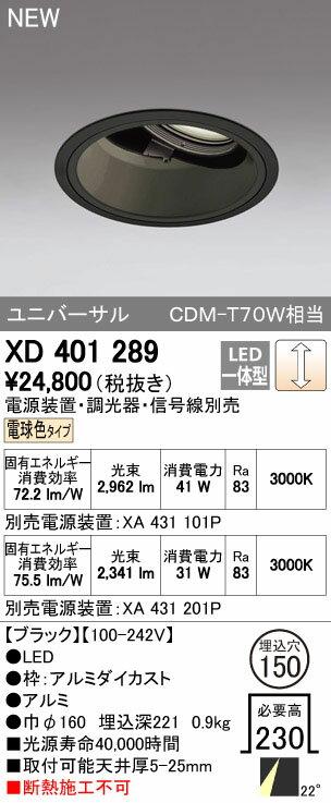 オーデリック ダウンライト 【XD 401 289】【XD401289】[新品]【RCP】