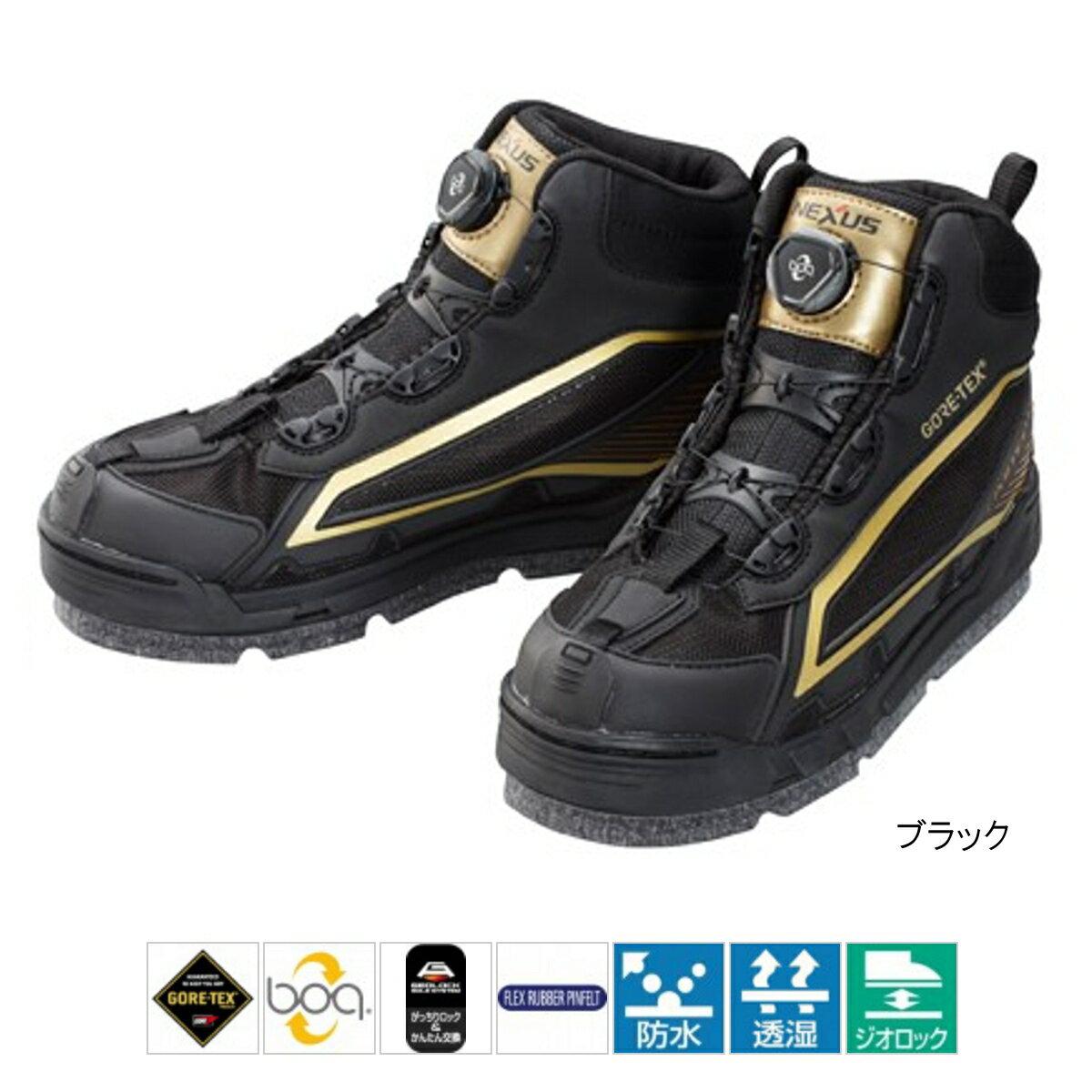 シマノ ゴアテックス フレックスラバー ピンフェルトシューズ Limited Pro Boa FS-175Q 25.0cm ブラック