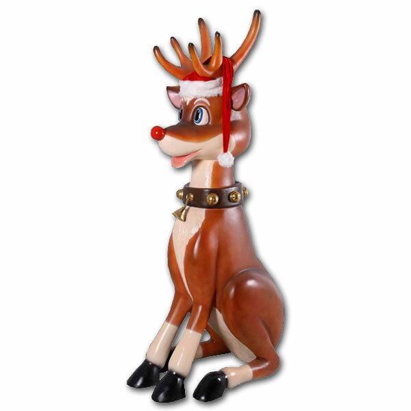 こっけいな大トナカイ / Funny Reindeer 7ft.強化プラスチック製アート(オブジェ)
