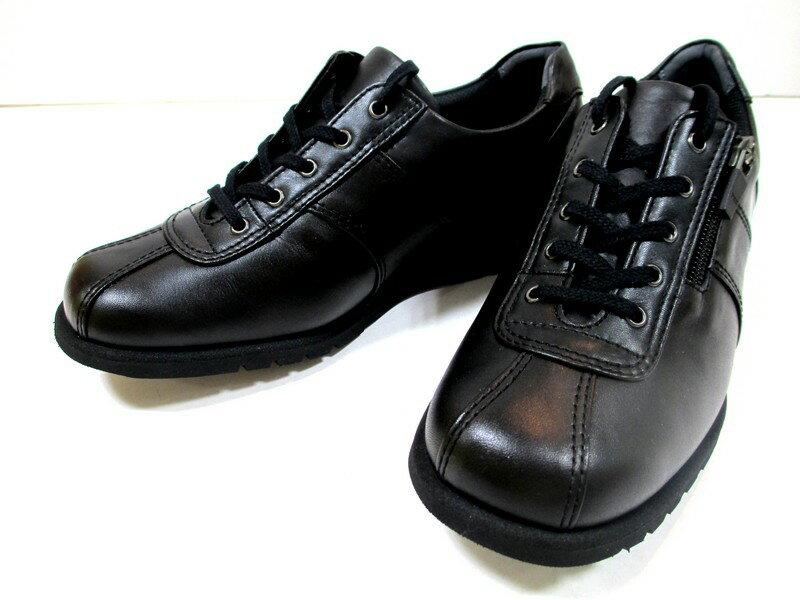 激安大放送 [アシックス ペダラ]【履くほどに愛着が湧く、手放せない1足になりそう。】ASICS PEDALA WPM867 レディース ウォーキング アウトドア コンフォート 天然皮革 3E 仕事靴 ファスナー付き ブラック