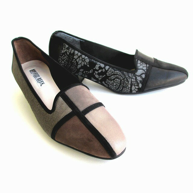 [フィズリーン]【履くほどに愛着が湧く、手放せない1足になりそう。】 FIZZ REEN fizzreen 1853 レディース 革靴 スクエアートゥ ローヒール 日本製 仕事靴 通勤靴 ブラック・オーク
