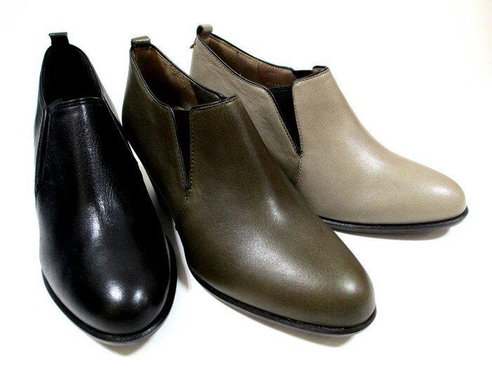 【履くほどに愛着が湧く、手放せない1足になりそう。】[イング] ING ing 2611 レディース パンプス 日本製  天然皮革 サイドゴア ローヒール リゾート靴 通勤靴 仕事靴 ブラック・カーキ・グレー