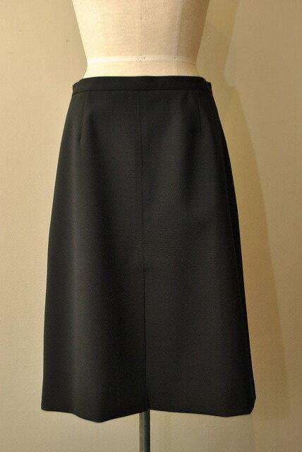 STUDIO NICHOLSON スタジオニコルソン SN-506 AGNES Aライン ボンデッドスカート  col.BLACK