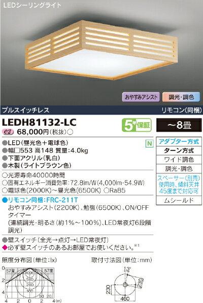 Slit【light brown】【照明器具】東芝ライテック:TOSHIBA LEDシーリング~8畳/LEDH81132-LC