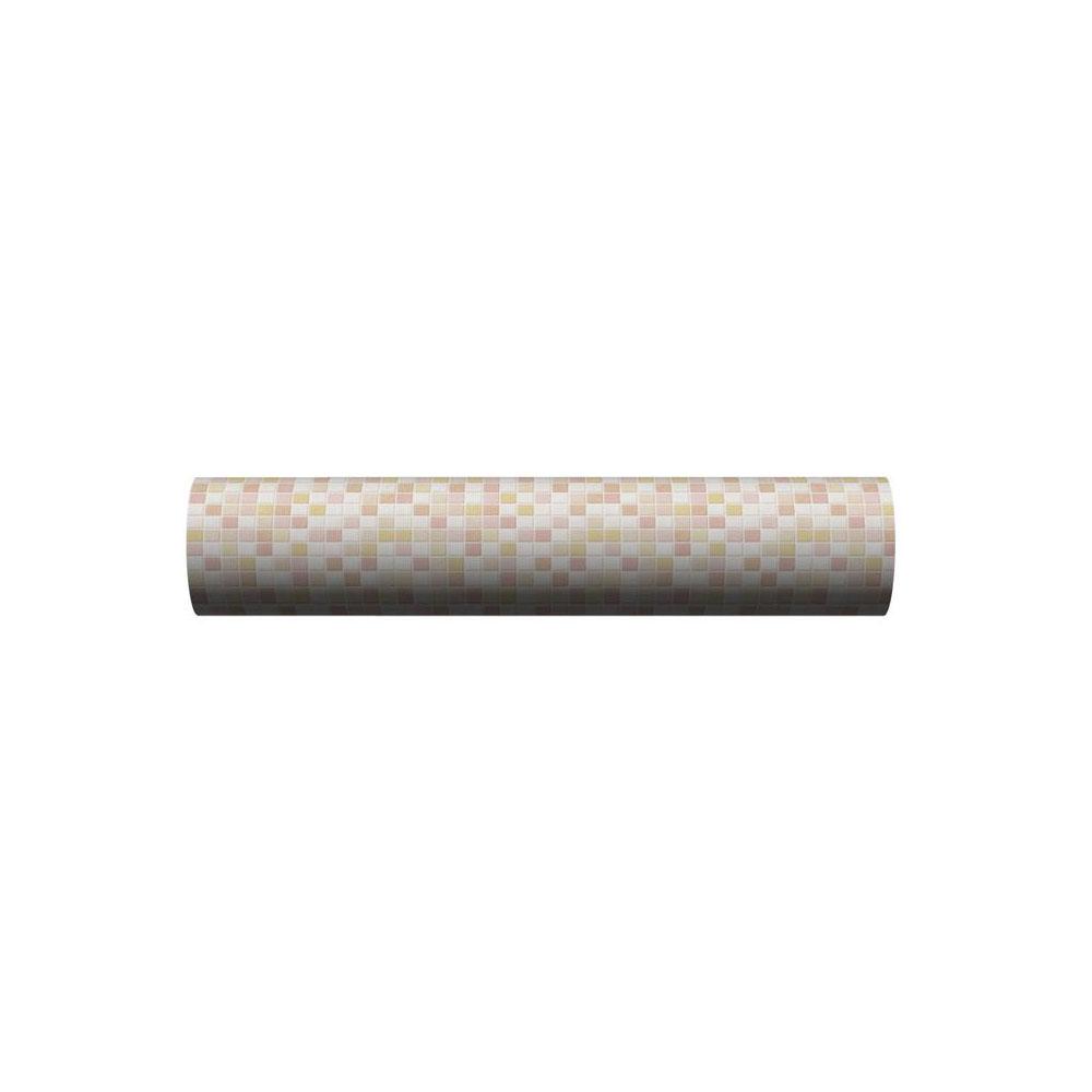 貼ってはがせる!床用 リノベシート ロール物(一反) ピンク(モザイクタイル) 90cm幅×20m巻 REN-05R